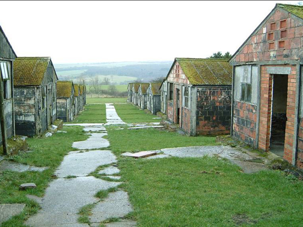 World War II PoW camp: Harperley Working Camp at Craigside, County Durham is a very rare surviving example of a purpose-built camp for prisoners of war (PoWs). The camp was used for both Italian and German PoWs and contains original wall paintings and internal fittings.