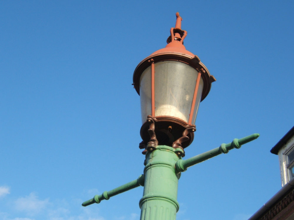This lamp on Park Road, Whitley Bay, is one of ten surviving sewer gas lamps erected in the Whitley Bay and Monkseaton areas between 1900 and 1910.