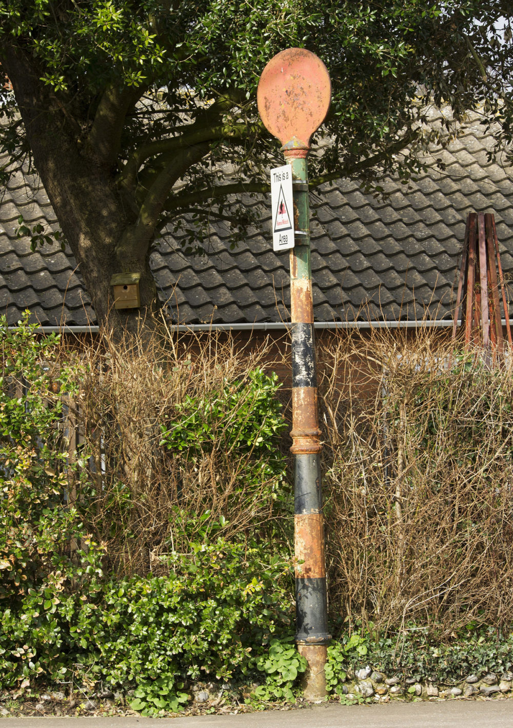 It may be a humble traffic sign, but this post in Overstrand, Norfolk, is one of the only surviving traffic signs, known as