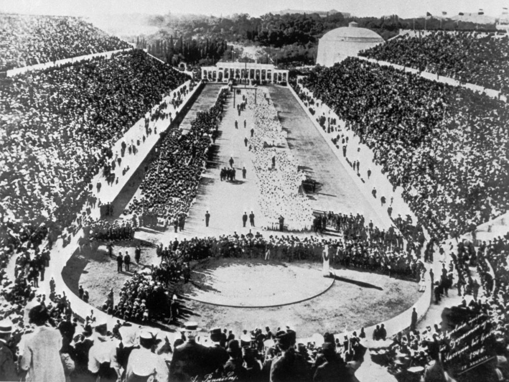 Greece was the natural choice to host the first modern Olympics Games in 1896, which saw the Panathinaiko Stadium packed with 80,000 spectators for the opening ceremony.