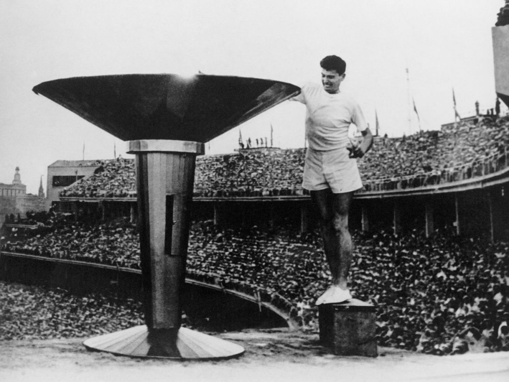 Australian athlete Ron Clarke lit the torch for the 17th Olympic Games, held in Melbourne in 1956. The Soviet Union was the most successful medal winning country that year, with 98 in total and 37 golds.