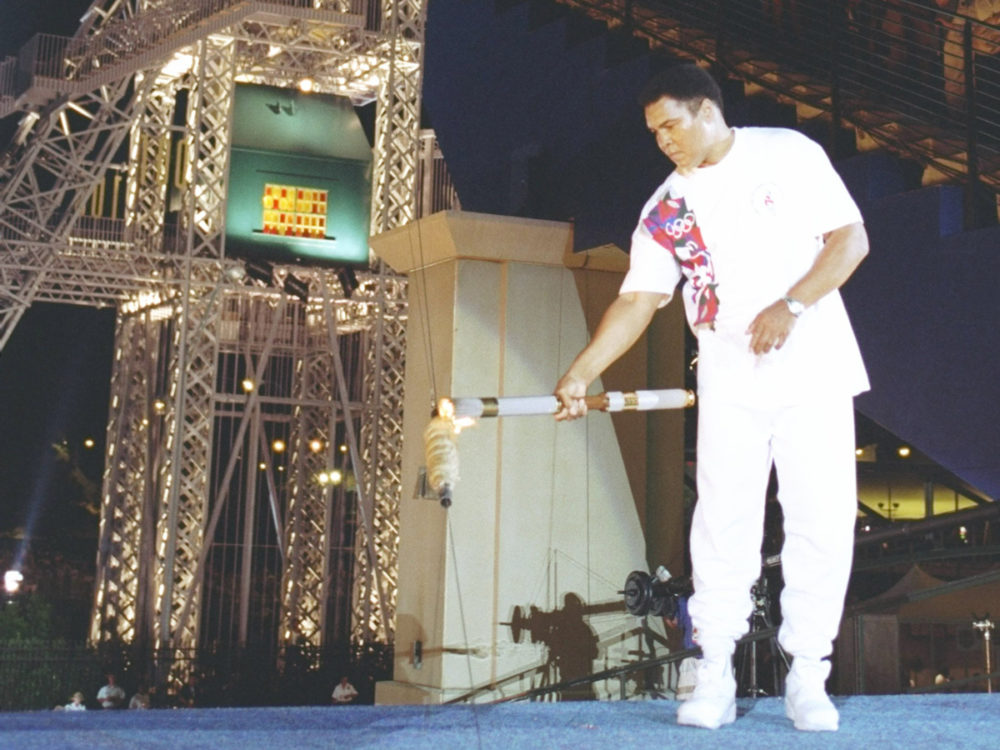In one of the most poignant moments from an opening ceremony, Muhammad Ali, battling with Parkinson's disease, lit the Olympic torch at the 1996 Atlanta Games.