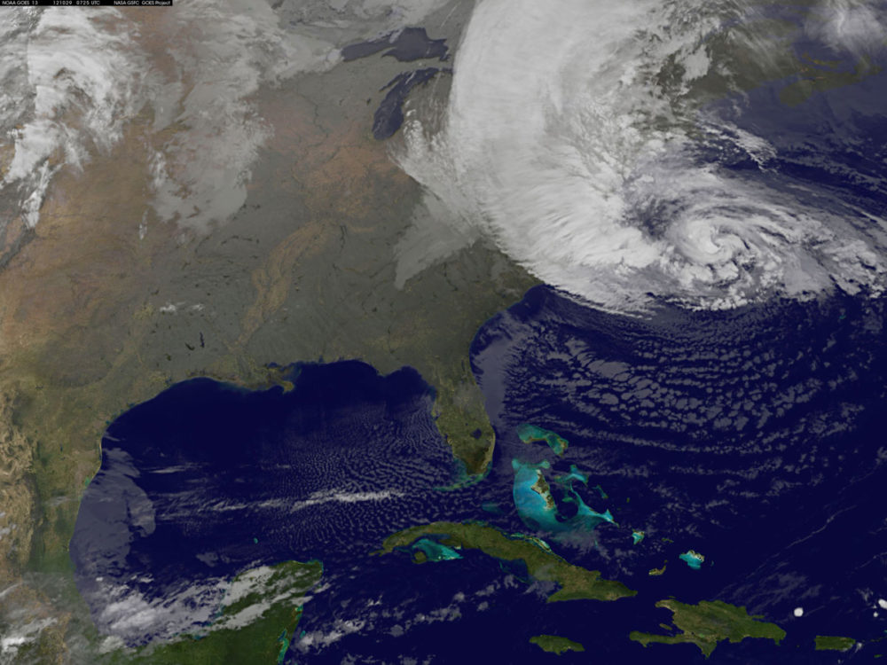Sandy, which has already claimed over 50 lives in the Caribbean, is predicted to bring heavy winds and floodwaters to the mid-Atlantic region. (Getty)
