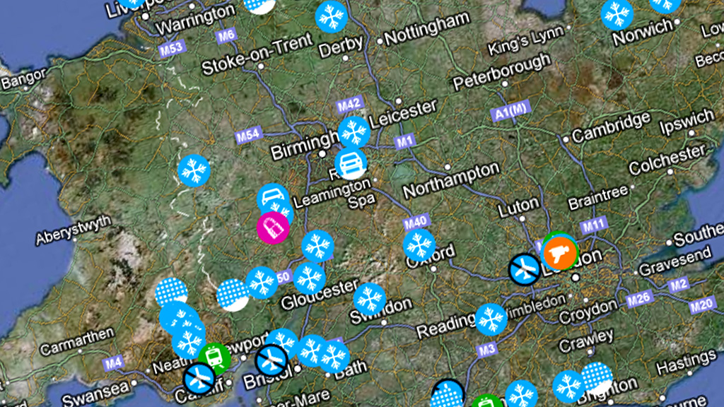Snow map latest news and UK weather