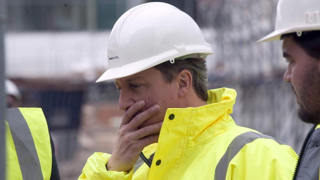Prime Minster David Cameron Visits A Land Securities Construction Site