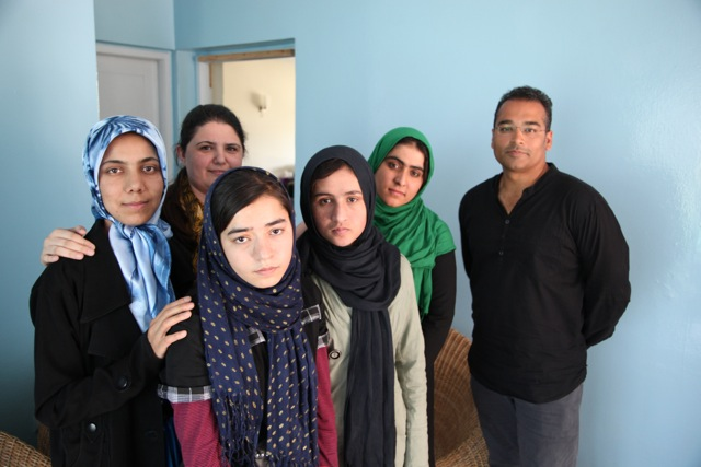 Sahar Gul and others from the Women for Afghan Women shelter