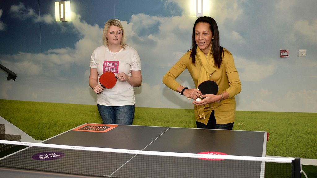 Sports Minister Helen Grant Visits Women's Sport Campaign in Bury