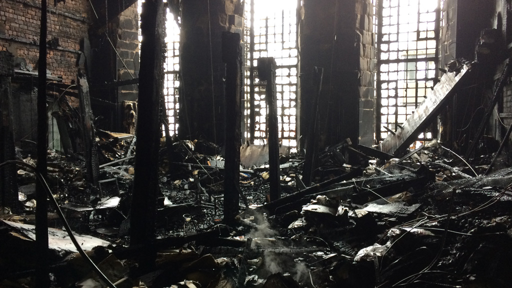 shocking pictures show damage at glasgow school of art