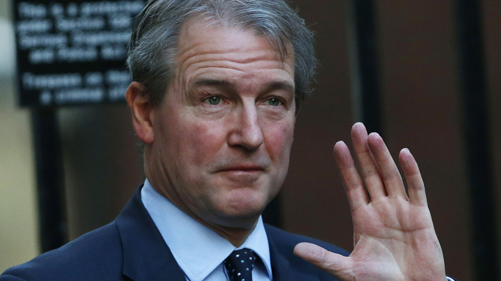 Britain's Environment Secretary Paterson arrives on Downing Street in London
