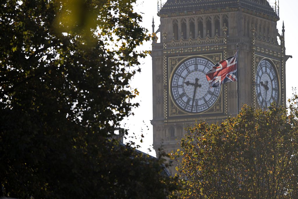 A Union flag flies from a flagpole near to the Elizabeth Tower, also known as Big Ben, at the Houses of Parliament in central London on November 7, 2016. Prime Minister Theresa May said Britain would become the ultimate free trade champion as she laid the groundwork Monday for a potential post-Brexit deal with India, the world's fastest growing major economy. / AFP / JUSTIN TALLIS (Photo credit should read JUSTIN TALLIS/AFP/Getty Images)