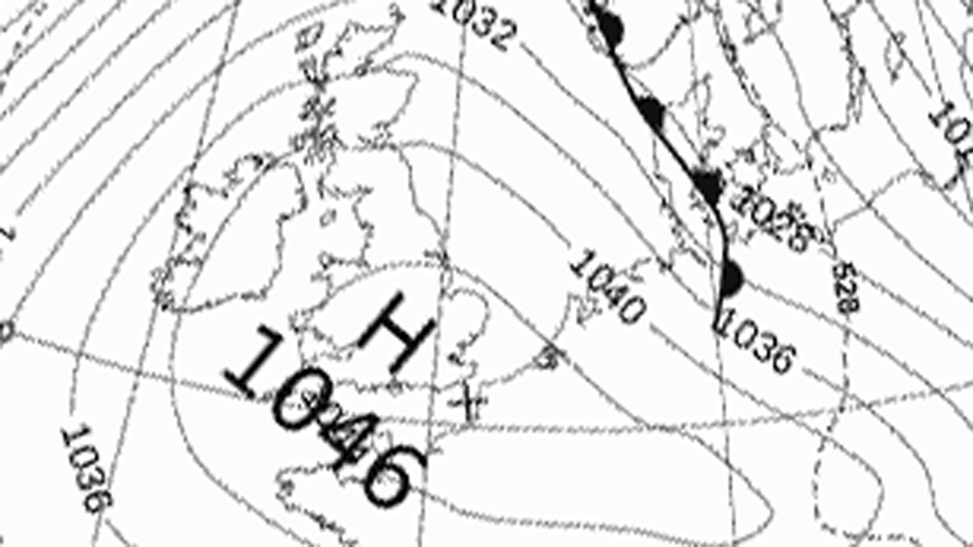 High pressure over UK