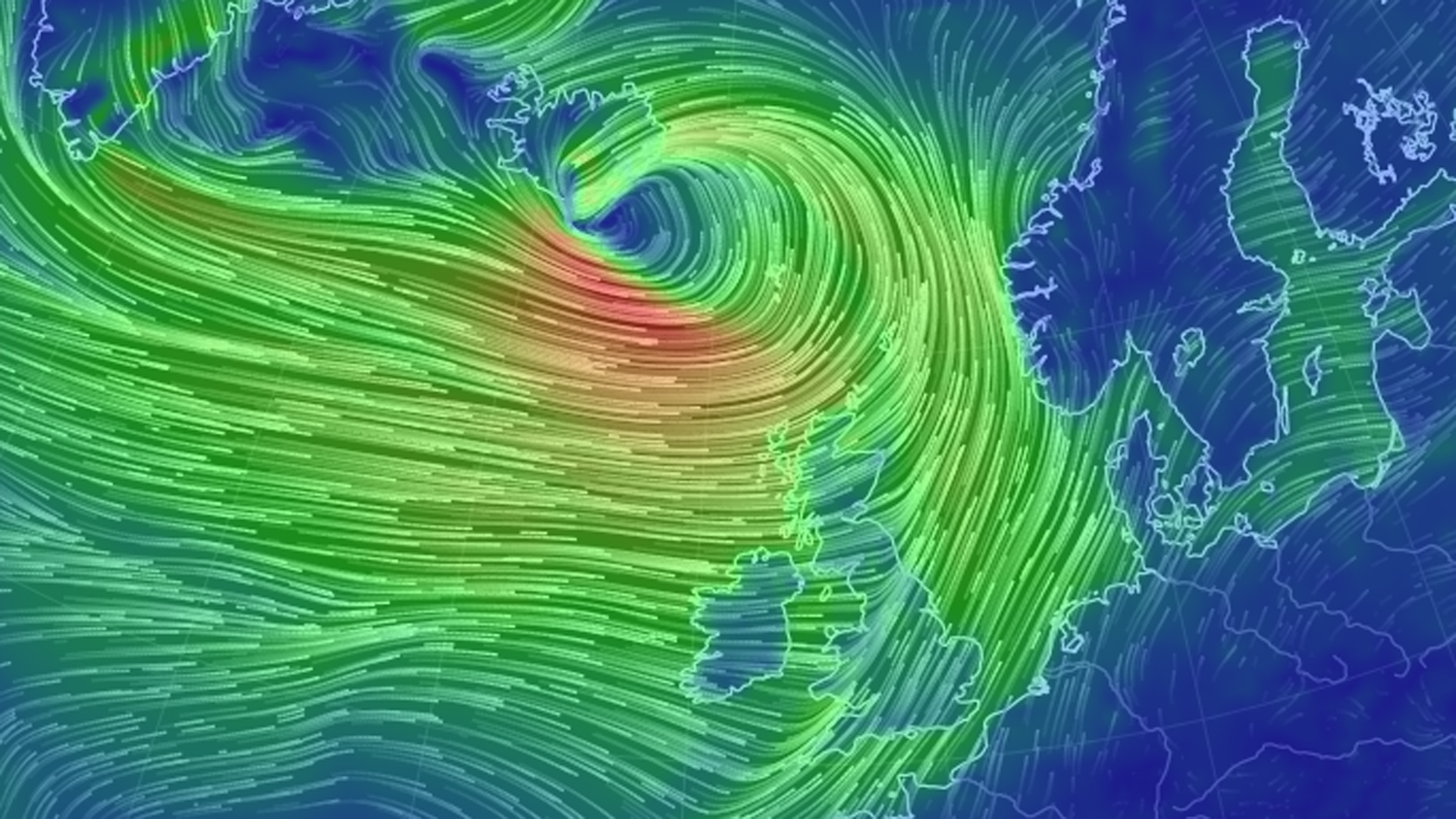 Storm Barbara wind graphic