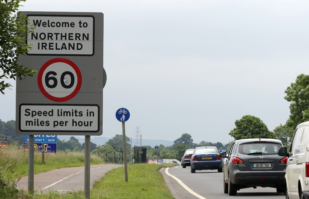 Cars cross the controless border between Ireland and Northern Ireland, in Donegal, Ireland on June 25, 2016. The result of Britain's June 23 referendum vote to leave the European Union (EU) has pitted parents against children, cities against rural areas, north against south and university graduates against those with fewer qualifications. London, Scotland and Northern Ireland voted to remain in the EU but Wales and large swathes of England, particularly former industrial hubs in the north with many disaffected workers, backed a Brexit. / AFP / PAUL FAITH (Photo credit should read PAUL FAITH/AFP/Getty Images)