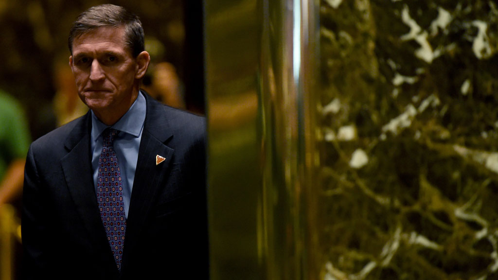 Lt. Gen. Michael Flynn arrives for a meeting with US President-elect Donald Trump at Trump Tower December 12, 2016 in New York. / AFP / TIMOTHY A. CLARY (Photo credit should read TIMOTHY A. CLARY/AFP/Getty Images)