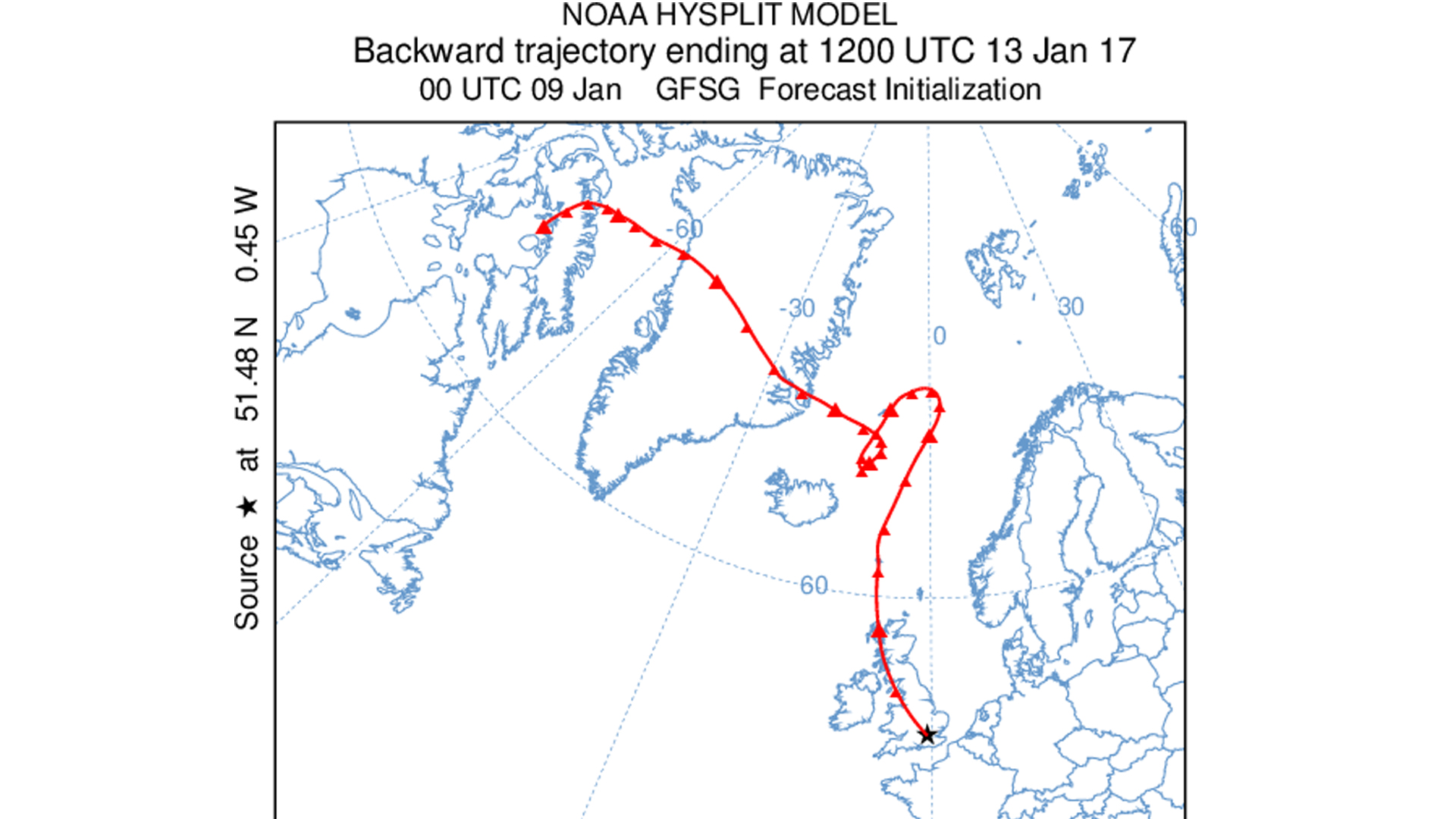 Where Arctic air is coming from