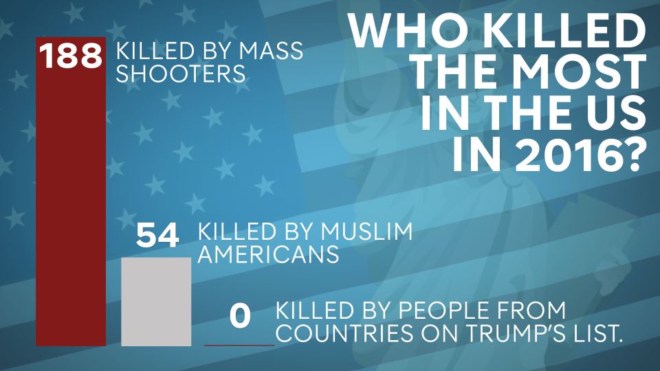Who killed the most in the US in 2016?