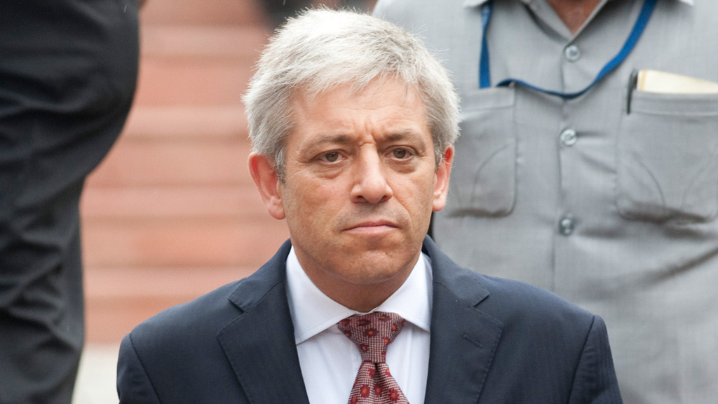 NEW DELHI, INDIA - AUGUST 19: John Bercow, Speaker of the House of Commons, UK parliament, leaves the 5 star Ashok Hotel for an engagement at the British High Commission on August 19, 2011 in New Delhi, India. John Bercow is visiting India at the invitation of Meira Kumar, Speaker of the Lok Sabha, Indian Parliament. During his visit Bercow will meet the Vice President, Hamid Ansari; Foreign Minister Krishna; Sushma Swaraj, Leader of Opposition, Lok Sabha; and President and Members of India-UK Parliamentary Friendship Group. (Photo by Richard Grange / Barcroft India / Getty Images)