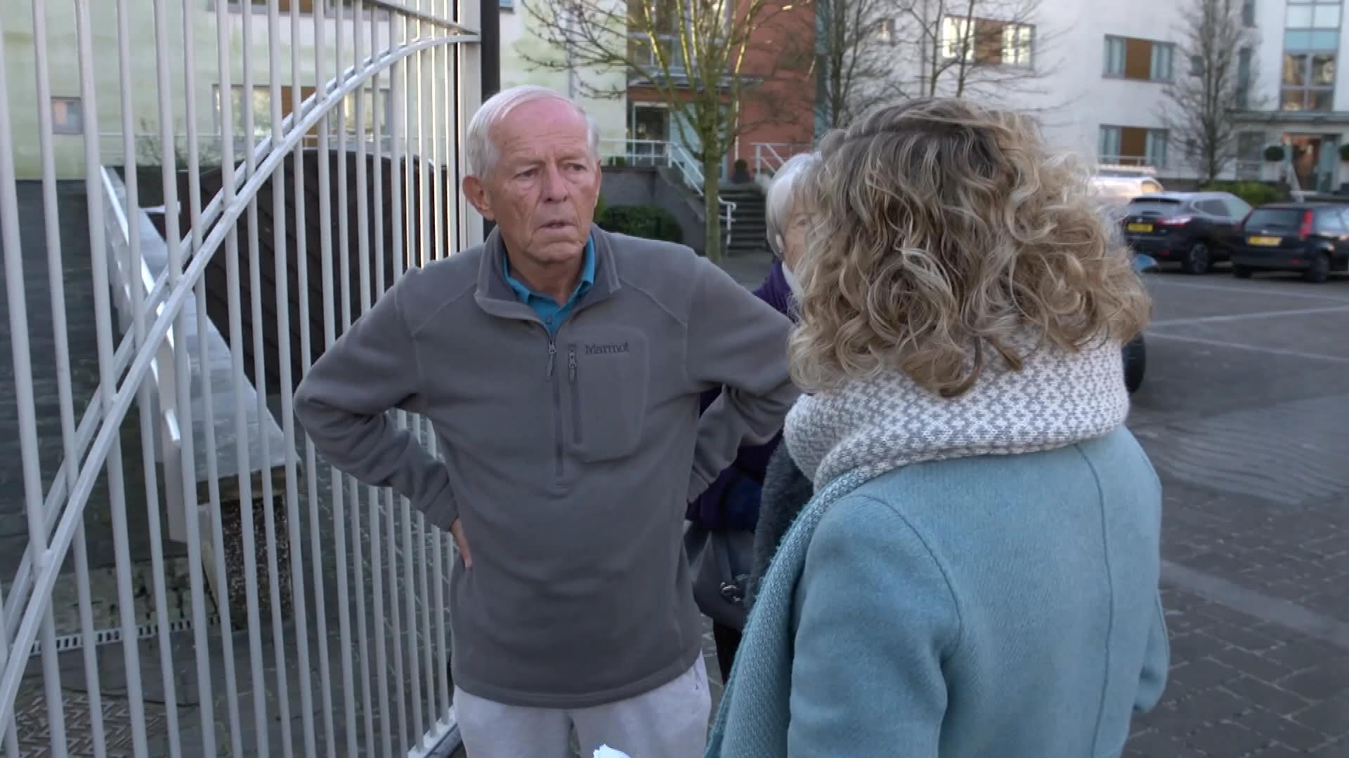 John Smyth being doorstepped