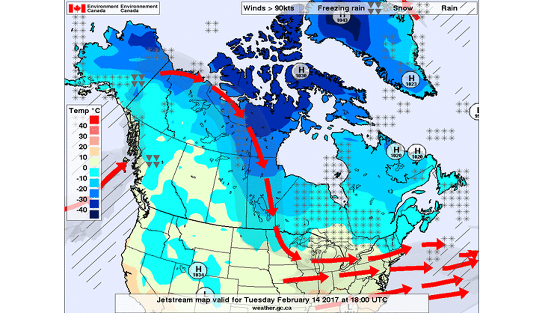 Canada weather chart