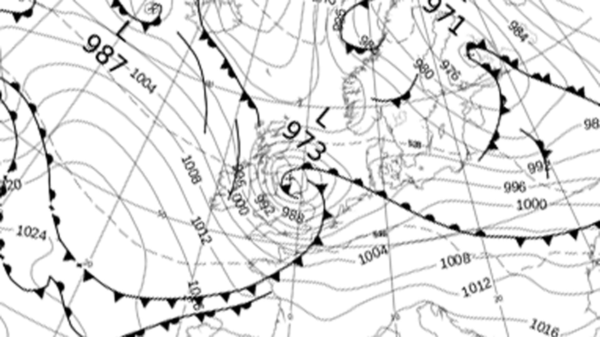 UK pressure chart