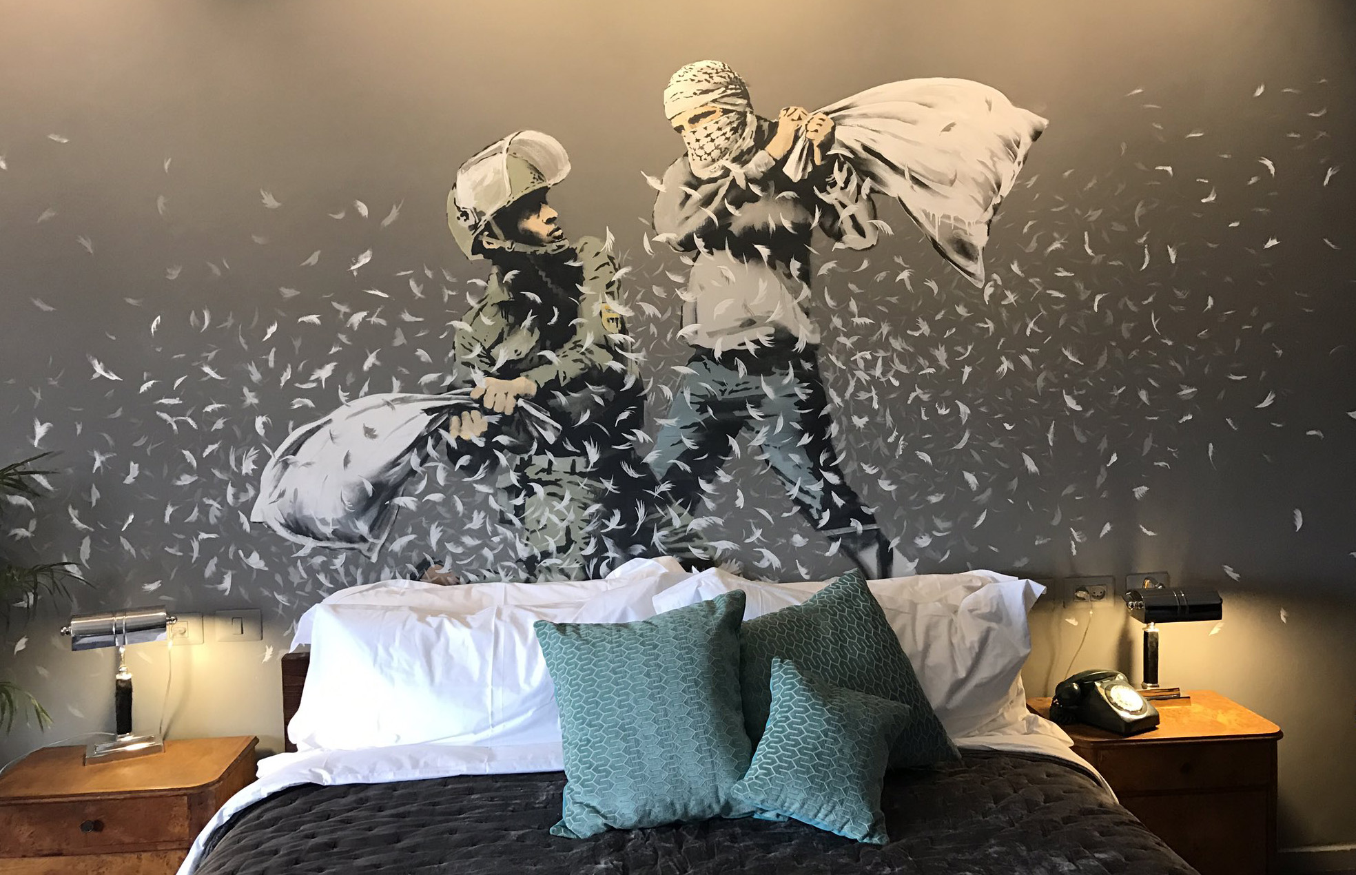 Banksy's art opens in hotel with the worst view